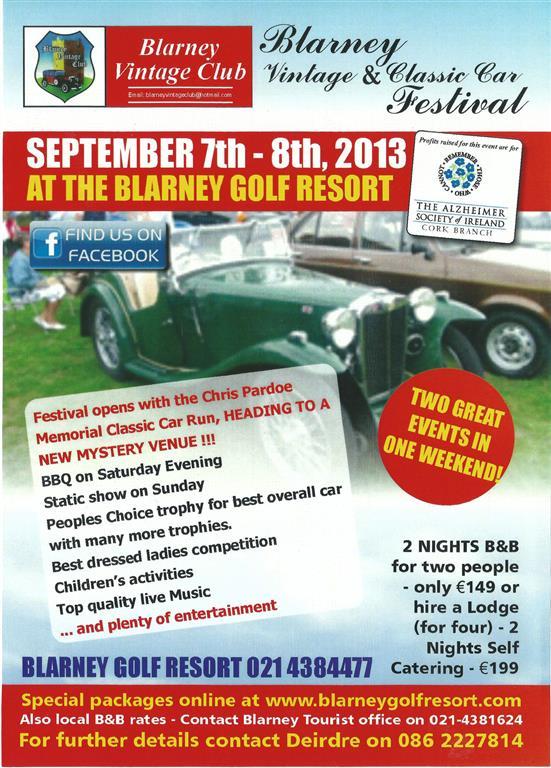 Blarney Vintage & Classic Car Festival